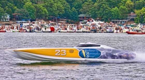 The fastest powerboats from around the country come to compete every year for Top Gun honors at the Lake of the Ozarks Shootout. Photo by Jay Nichols.