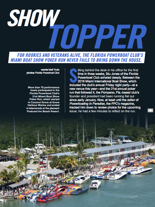 Florida Powerboat Club Featured in Speed on the Water
